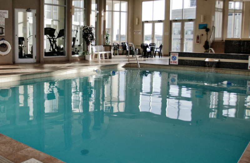 Indoor pool at Michaels Inn by the Falls.