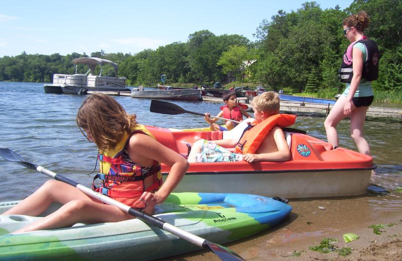 Kayaking at Shady Hollow Resort and Campground.