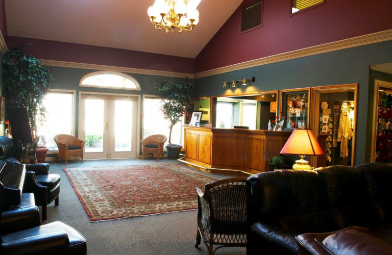 Lobby at South Thompson Inn & Conference Centre.
