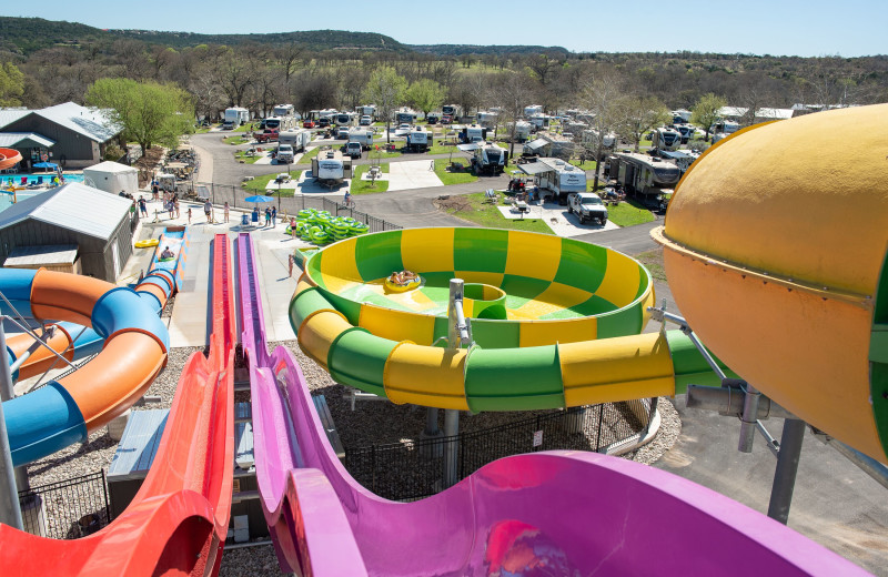 Water slides at Yogi Bear's Jellystone Park™ Guadalupe River.