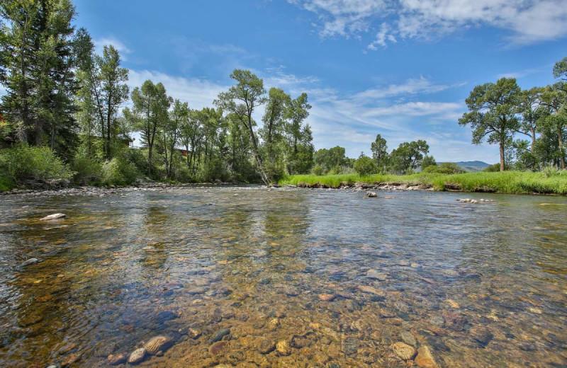 River at The Glen Eden Resort.