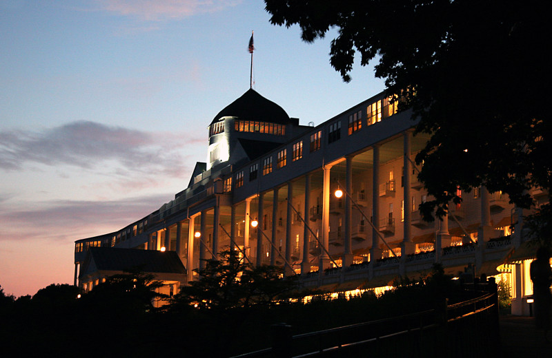 Exterior view of Grand Hotel.