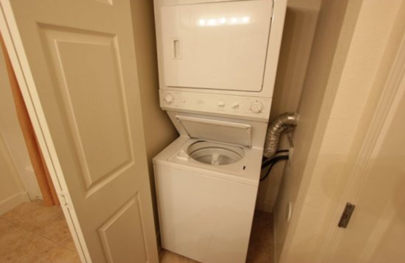 Washer and dryer included at Elite Vacation Homes.