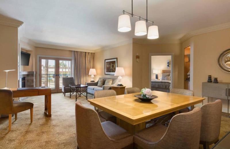 Guest room at Hilton Scottsdale Resort & Villas.