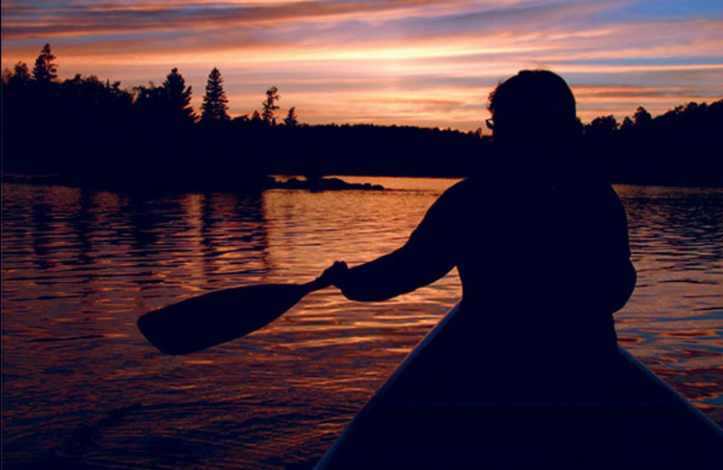 Canoeing at Surfside on Lake Superior.