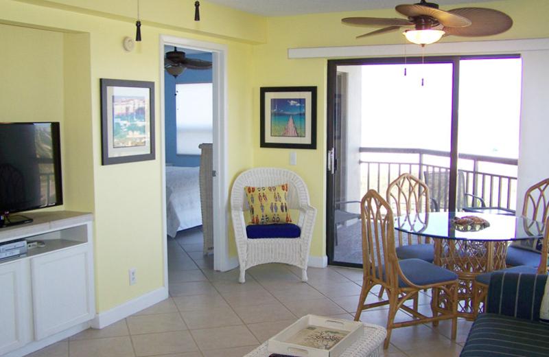 Rental interior at Gulf Strand Resort.
