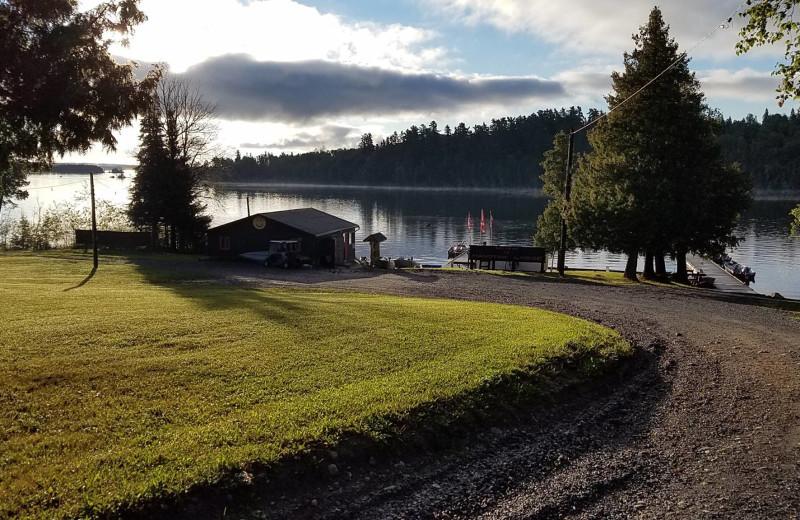 Lake view at Manotak Lodge.