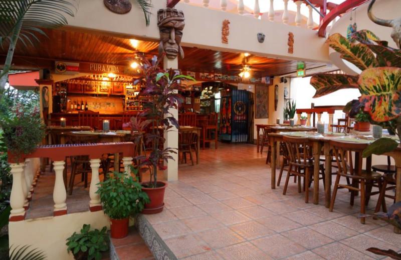 Dining at Hotel Las Tres Banderas.