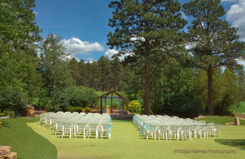 Wedding at Echo Basin Cabin And RV Resort.