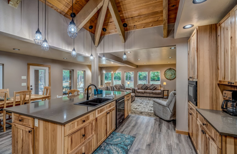 Rental interior at Black Butte Ranch.