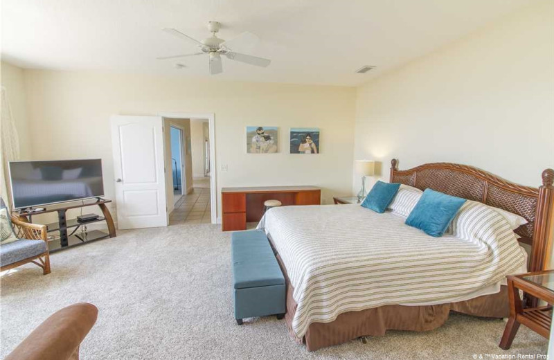 Rental bedroom at Vacation Rental Pros - St. Augustine.