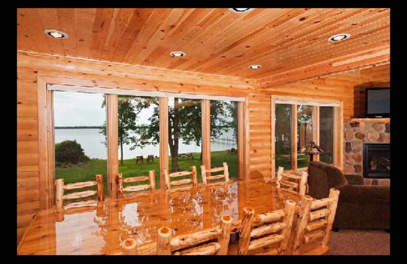 Cabin dining room at Brindley's Harbor Resort.