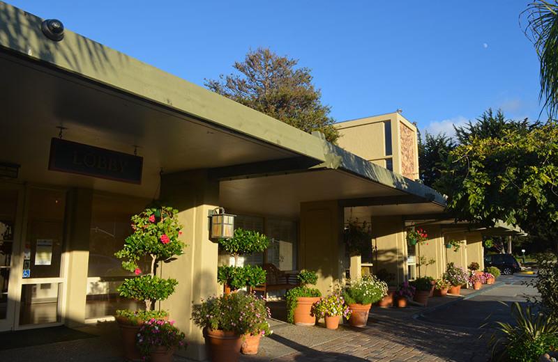 Entrance to Carmel Mission Inn