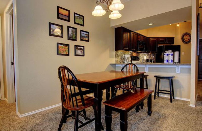 Rental kitchen at New Braunfels Escapes.