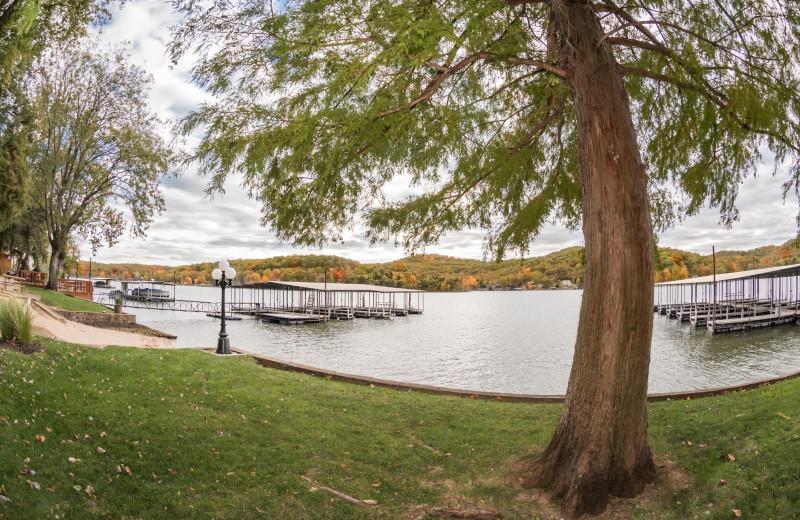 Lake view at Point View Resort.