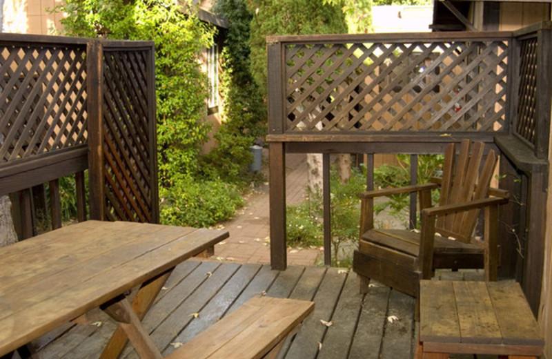 Porch view at Riverlane Resort.