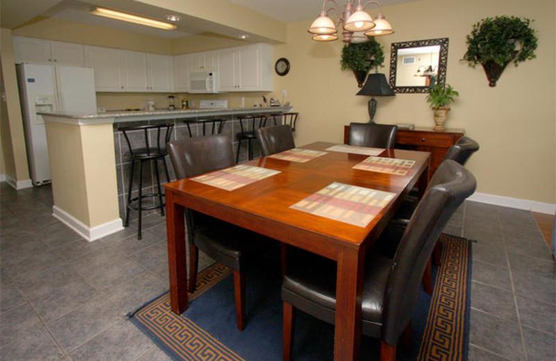 Rental kitchen at MyrtleBeachVacationRentals.com.