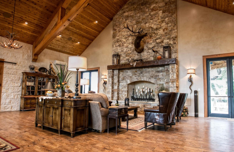 Lodge interior at Joshua Creek Ranch.