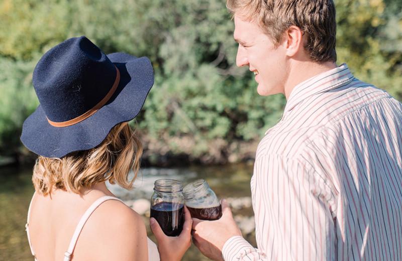 Couple at Hardscrabble Ranch.