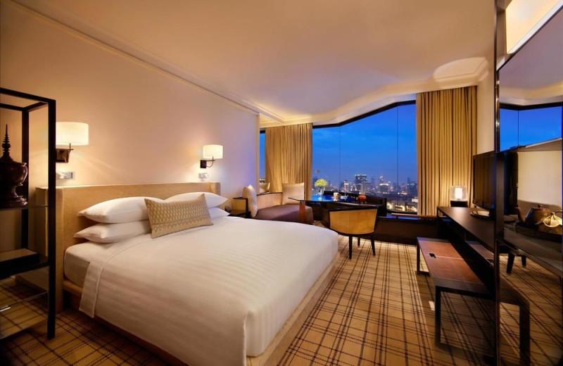 Guest room at Grand Hyatt Erawan.