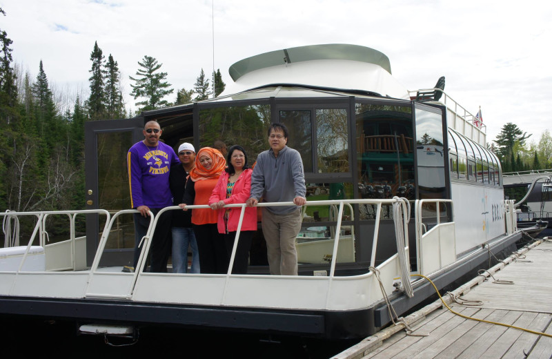 Family at Ebel's Voyageur Houseboats.