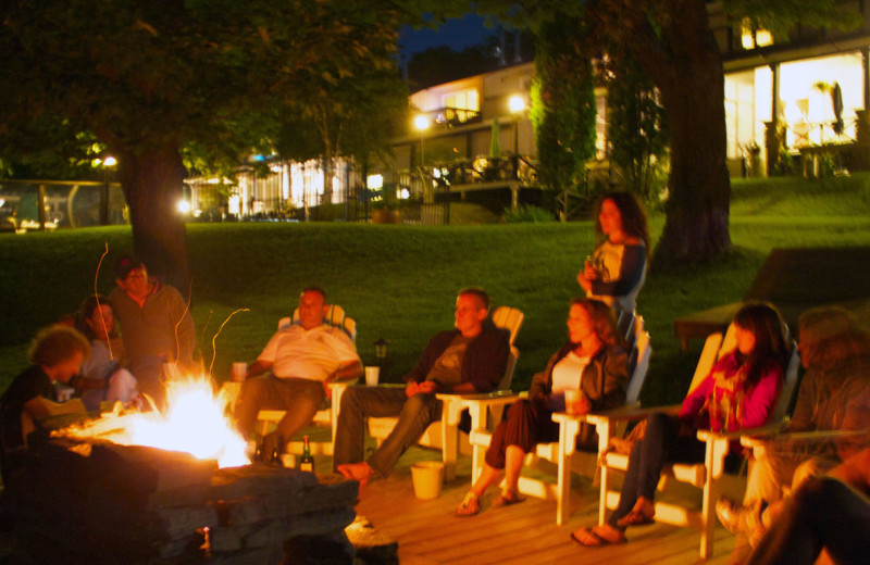 Bonfire at Sir Sam's Inn and WaterSpa.