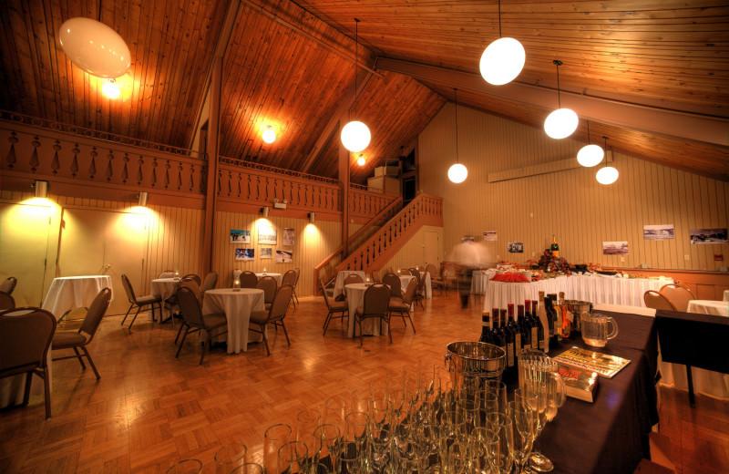 Reception at Lutsen Resort on Lake Superior.