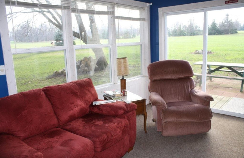 Guest room at Spring Valley Golf and Lodge.