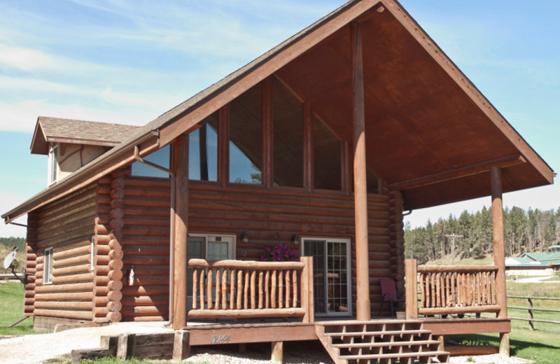 Cabin exterior at High Country Guest Ranch.