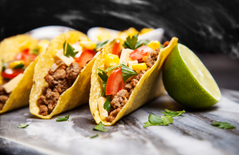Tacos at Del Lago Resort & Casino.
