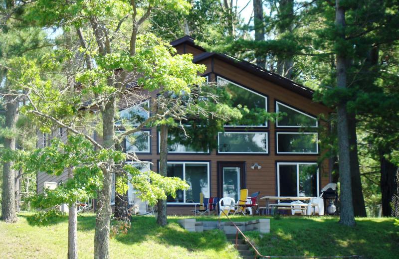 Cabin exterior at Gull Four Seasons Resort.