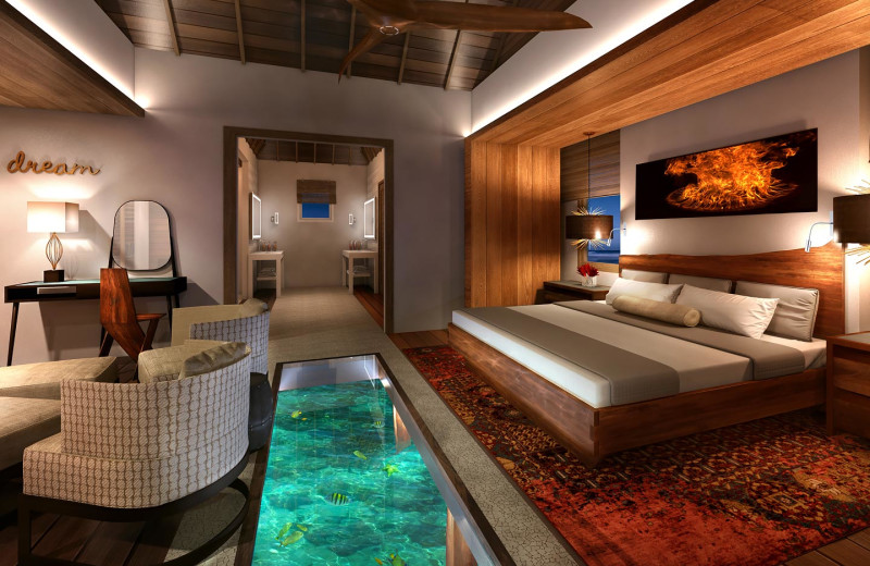 Guest room at Sandals Royal Caribbean Resort & Offshore Island.
