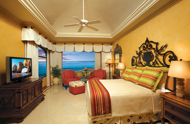 Guest room at Hilton Los Cabos Resort.