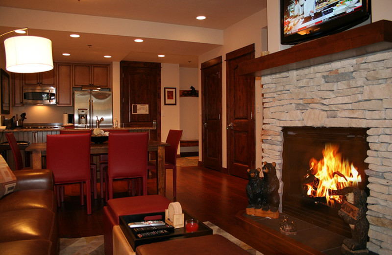 Rental interior at Majestic Lodging.