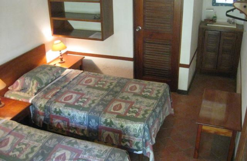 Guest room at Hotel Rancho Suizo Lodge.