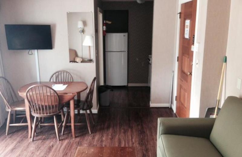 Guest room at Windrifter Resort.