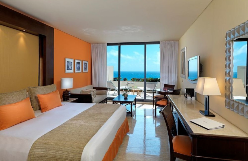 Guest room at Paradisus Cancun.