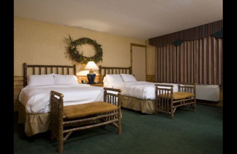 Two bed guest room at Otsego Club and Resort.