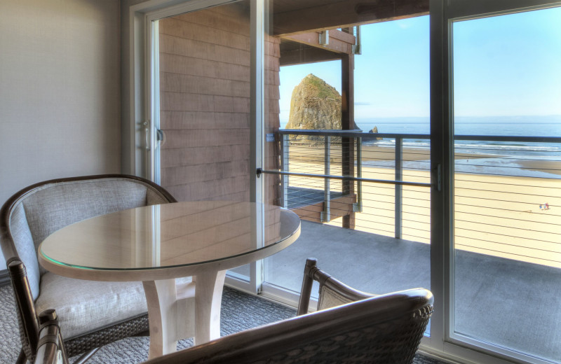 Balcony at Hallmark Resort & Spa Cannon Beach.