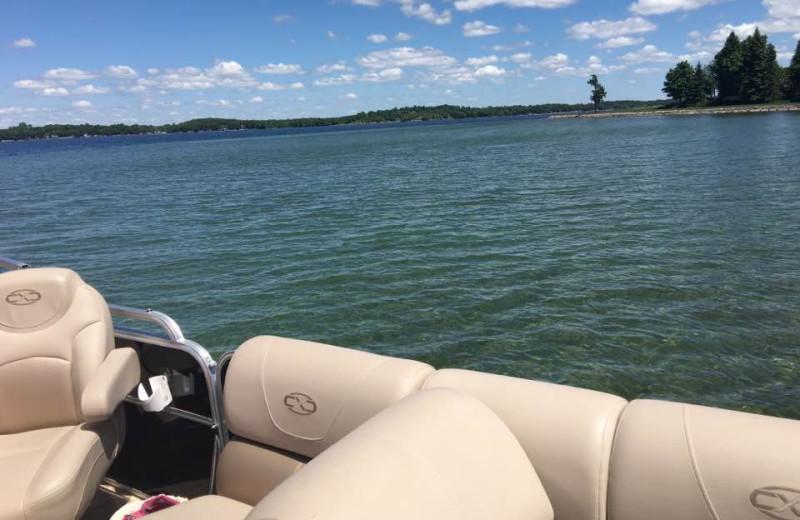 Lake view at Pelican Beach Resort.