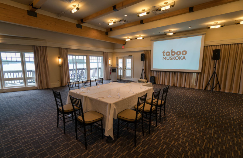 Meetings at Taboo Muskoka.