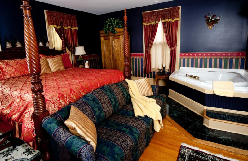 Guest room with hot tub at 1840 Inn on the Main Bed and Breakfast.