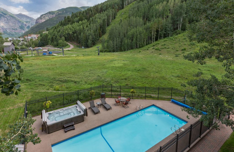 Rental pool at Welcome to Telluride Vacation Rentals.