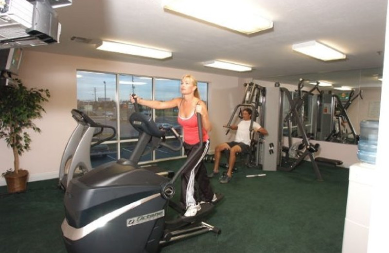 Fitness room at Cayo grande Suites Hotel.