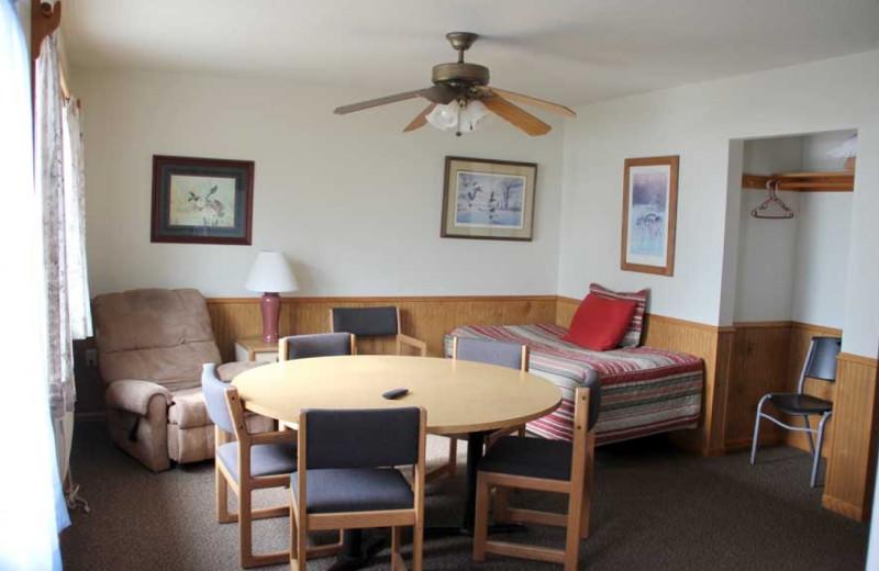 Cabin interior at Ballard's Resort.
