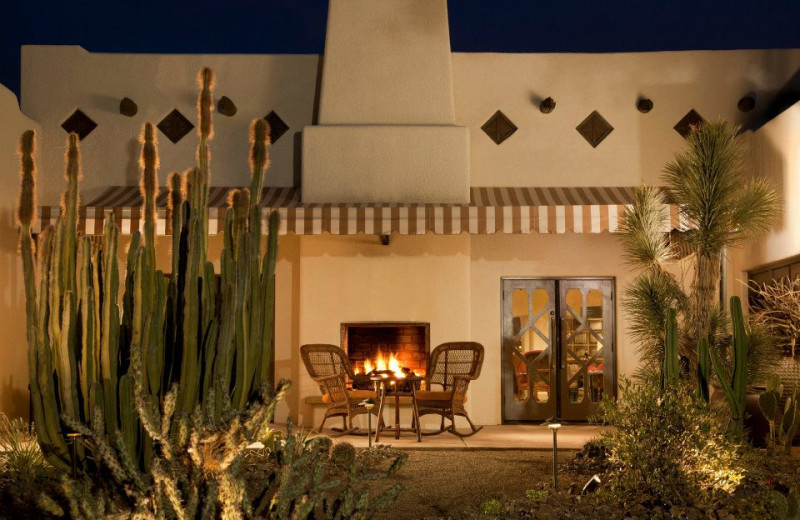 Fireplace patio at The Wigwam Resort.