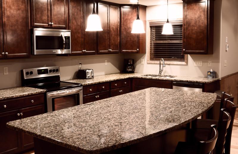 Rental kitchen at Pocono Mountain Rentals.