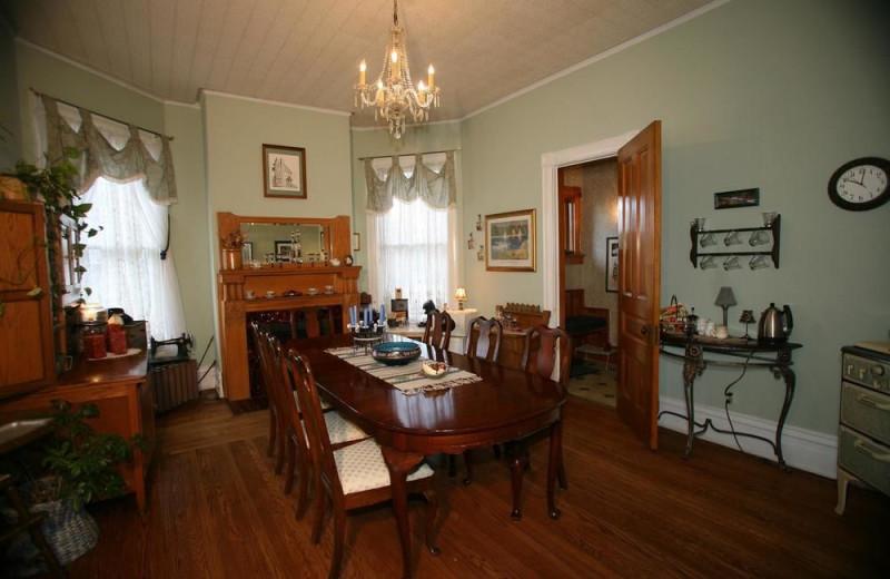 Dining room at Inn at Ludington.
