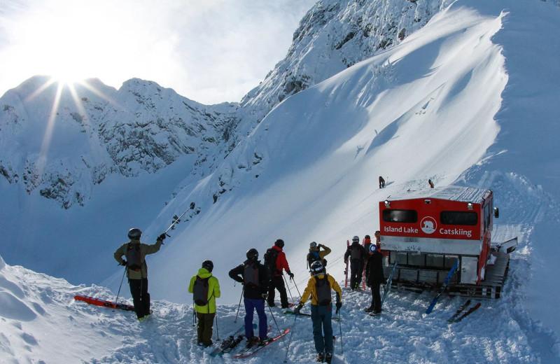 Skiing at Island Lake Lodge.