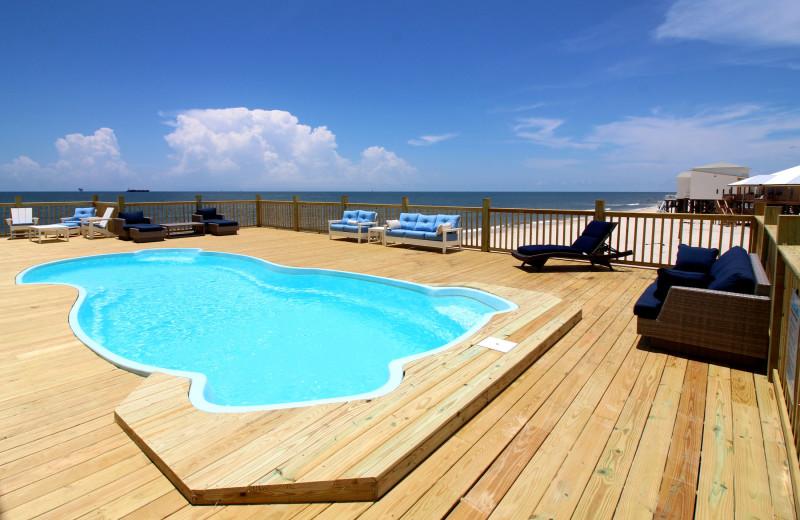 Rental private swimming pool at Boardwalk Realty Inc.